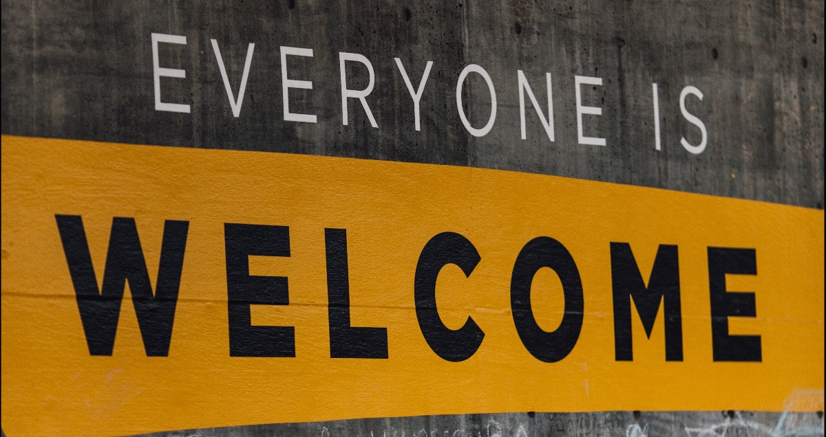 Onboarding Welcome Sign